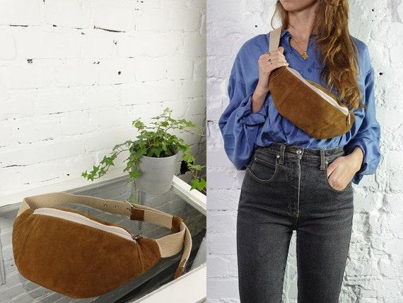 Fanny Pack Leather Bum Bag Suede Leather Belt Bag Women Waist Pack Hip Bag Vintage Clothing Leather Belt Bag Suede Leather Bum Bag BB42