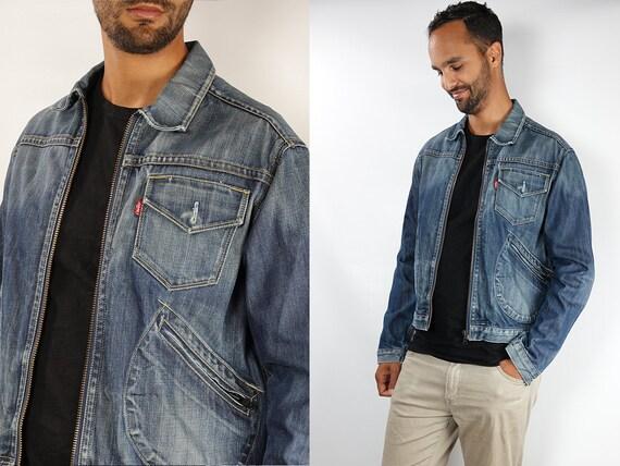 LEVIS Denim Jacket Levis Jean Jacket Large Jean Jacket 90s Levis Jacket Blue Vintage Denim Jacket Grunge Jacket Vintage Clothing DJ138