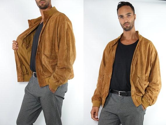 Vintage Suede Jacket Vintage Suede Bomber Suede Bomber Jacket Brown Suede Jacket Brown Bomber Jacket Soft Suede Jacket Large Suede SUJ101