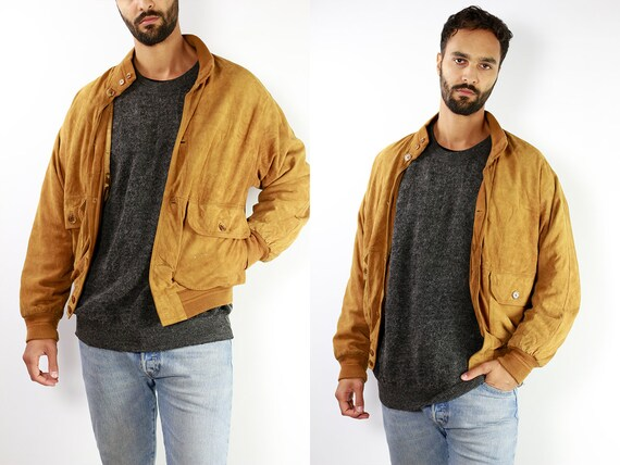 Vintage Suede Jacket Vintage Suede Bomber Suede Bomber Jacket Brown Suede Jacket Brown Bomber Jacket Soft Suede Jacket Large Suede SUJ2