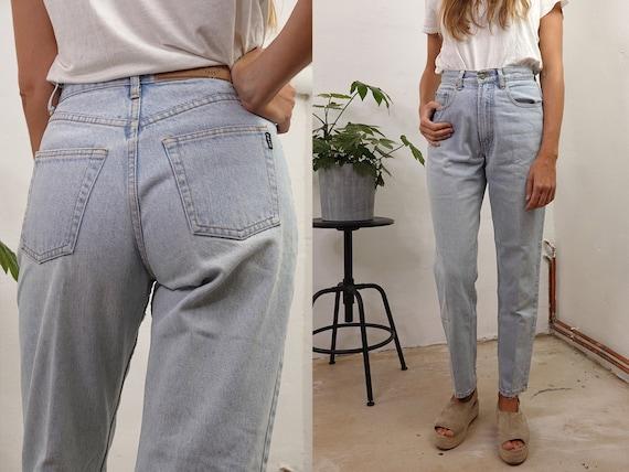 Vintage Mom Jeans Blue Mom Jeans High Waist Jeans High Waisted Jeans Vintage Jeans Vintage Blue Jeans 80s Jeans Vintage Clothing HS49