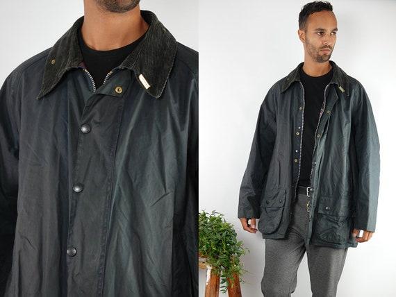 Barbour Coat Barbour Jacket Barbour Wax Jacket Barbour Wax Coat Barbour Blue Jacket Barbour Blue Coat Barbour beaufort Vintage Jacket CO99