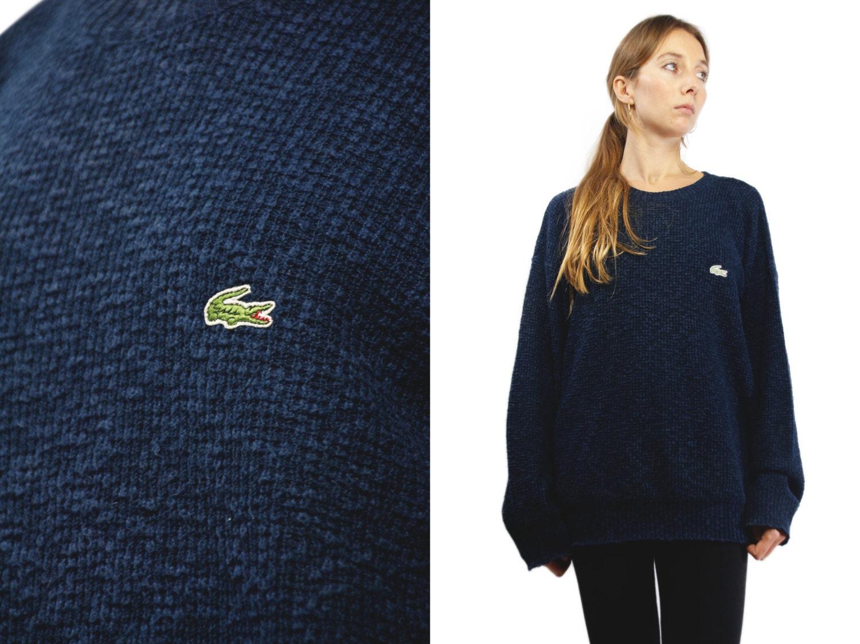 8216c8a46cec LACOSTE Wool Sweater   Vintage Lacoste Sweater   Blue Lacoste ...