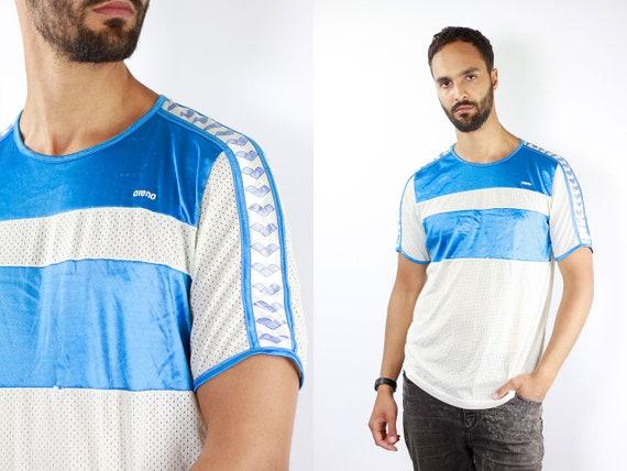 Vintage T-Shirt Taped T-Shirt Arena T-Shirt Vintage T Shirt 90s Vintage Arena T-Shirt Blue Vintage T-Shirt 90s Arena Blue T-Shirt Arena 90s
