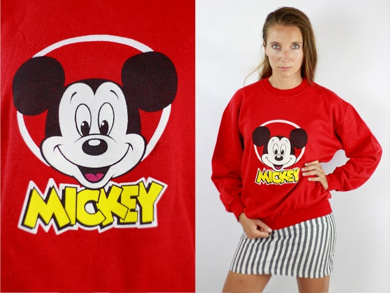 Mickey Mouse Sweatshirt Disney Sweatshirt Vintage Sweatshirt Disney Hoodie Oversize Hoodie 90 Sweatshirt 90 Hoodie Mickey Mouse Jumper SW207