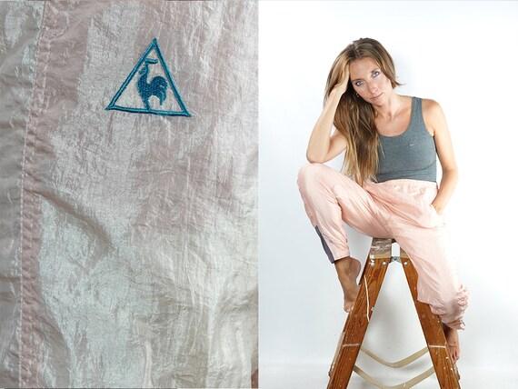 Vintage Track Pants Pink Track Pants Le Coq Sportif Joggers Vintage Le Coq Sportif Pants Pink Sweat Pants Vintage Pink Pants Gym Pants TH101