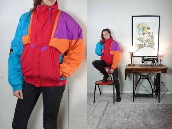 Puffer Jacket K-Way Jacket Jeux Olympiques D'Hiver Vintage Jacket Kway Windbreaker Kway Jacket Women Kway Vintage Clothing  JA133