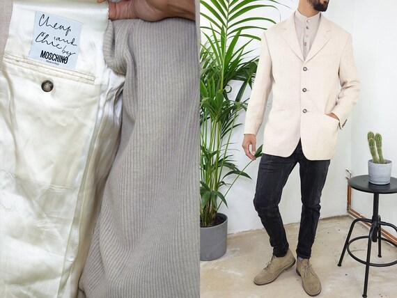 MOSCHINO Blazer Vintage Moschino Jacket Vintage Blazer Wool Blazer Designer Jacket Large Mens Clothing Vintage Clothing Second Hand BL7