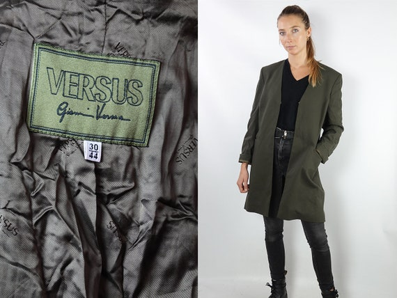 Gianni Versace Coat Gianni Versace Jacket Vintage Versace Coat Vintage Versace Jacket Vintage Coat Green Womens Coat Vintage Clothing CO115