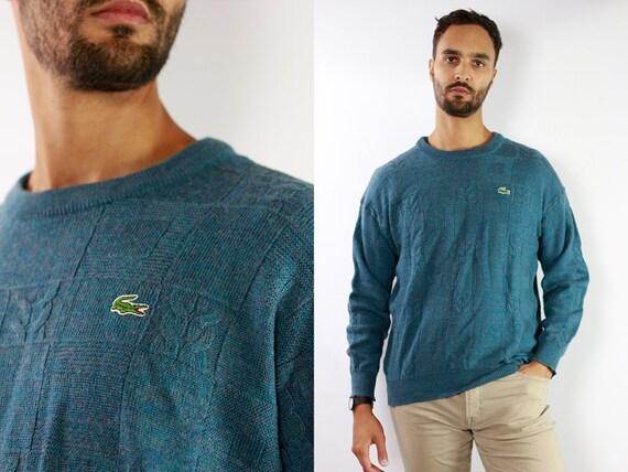 LACOSTE Jumper  Sweater Lacoste Green Lacoste Sweatshirt 90s Sweater Lacoste  Lacoste Vintage  Lacoste Women  Vintage Lacoste  Green P44
