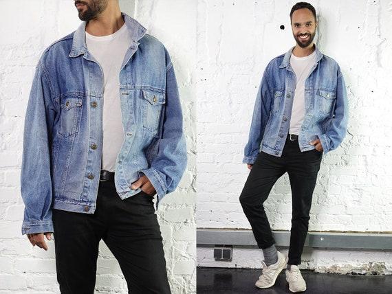 Denim Jacket Vintage Jean Jacket Blue Denim Jacket Large Denim Jacket Grunge Jean Jacket Grunge Denim Jacket Large Jean Jacket Carrera DJ199