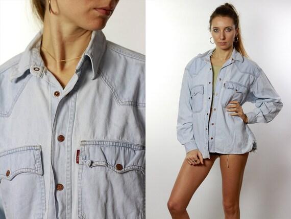 Vintage Denim Shirt Vintage Jean Shirt Jean Shirt Blue Shirt Vintage Jeans Shirt CASUCCI Shirt Jean Shirt Denim Shirt Vintage Denim Shirts