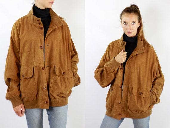 Brown Suede Jacket Suede Bomber Jacket Suede Jacket Brown Vintage Suede Jacket 80s Suede Jacket Bomber Jacket Suede Jacket Leather WLJ100