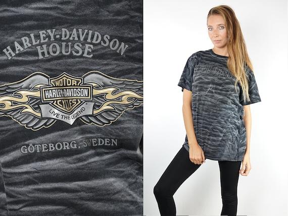 HARLEY DAVIDSOND T-Shirt Vintage Harley Davidson T-Shirt T-Shirt Harley Davidson American Legend Biker Motorcycle T-Shirt Retro T.44
