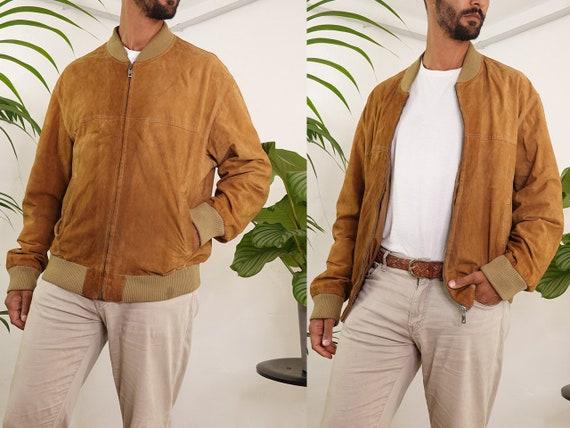 Vintage Suede Jacket Vintage Suede Bomber Suede Bo