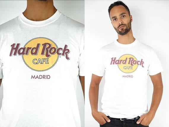 Hard Rock Cafe T-Shirt Hard Rock Cafe Shirt White T-Shirt Hard Rock Cafe Madrid Vintage Hard Rock T-Shirt White Madrid T-Shirt Madrid T81