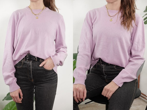 Cashmere Jumper Cashmere Sweater Wool Jumper Pink Vintage Jumper Round Neck Sweater Knitted Jumper Vintage Clothing Second Hand WP305
