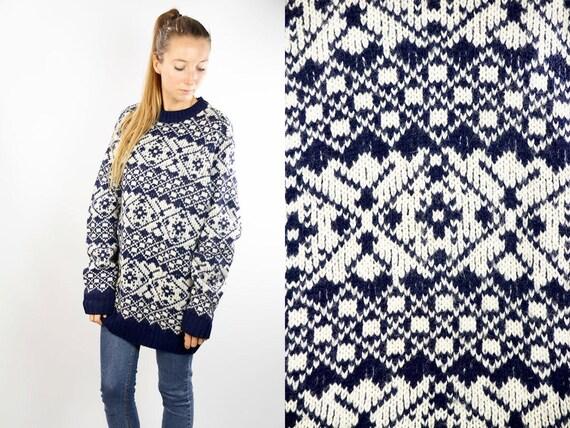 Norwegian Sweater / Norwegian Jumper /  Scandinavian jumper /  scandinavian Sweater / Nordic Jumper / Nordic Sweater / Oversize Jumper