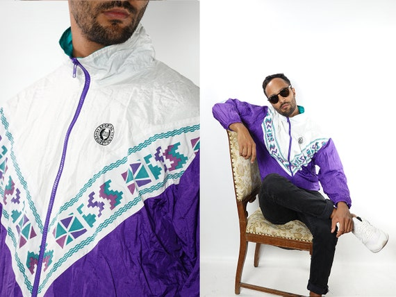 90s Windbreaker Festival Jacket Vintage Windbreaker Vintage Track Jacket Oversize Windbreaker 90s Track Jacket Vintage Clothing Men TJ23