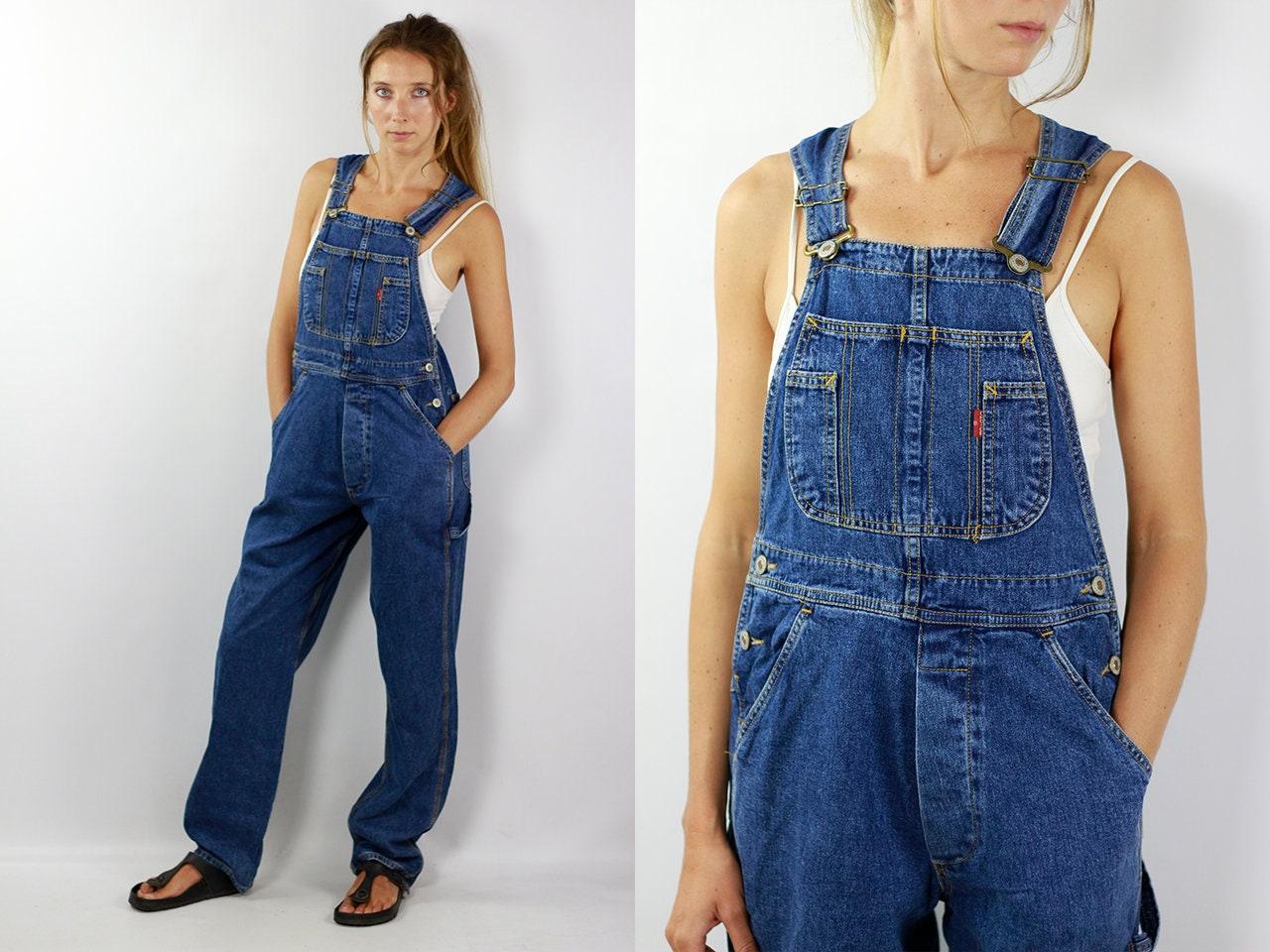 Denim Overalls Vintage Dungarees Denim Dungarees Blue Denim Overalls ...