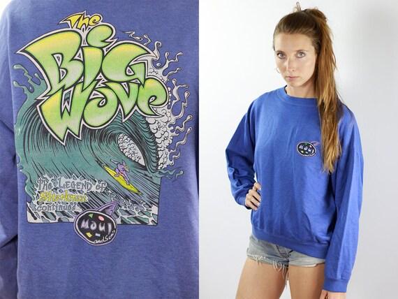 Vintage Sweatshirt 90s Sweatshirt Surfer Sweatshirt Vintage Jumper 90s Jumper Surf Jumper Streetwear Jumper Streetwear Sweatshirt Big Wave