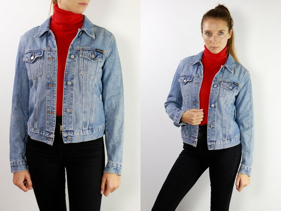 Vintage Denim Jacket Vintage Jean Jacket Blue Denim Jacket Cropped Denim Jacket Cropped Jean Jacket Grunge Denim Jacket Small Jean JacketDJ2