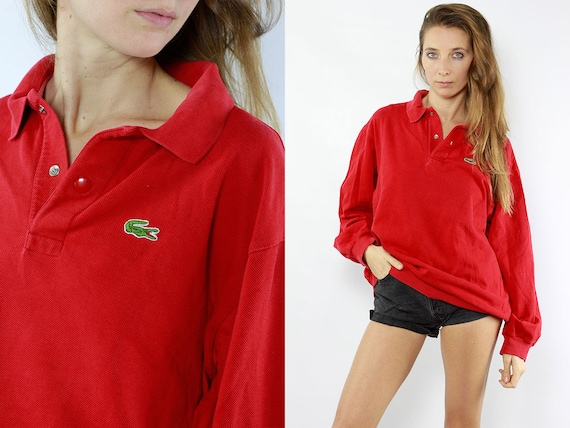 Lacoste Jumper Lacoste Sweater Lacoste Sweatshirt Lacoste Long Sleeve Lacoste Polo Shirt 90s Lacoste  Vintage Lacoste
