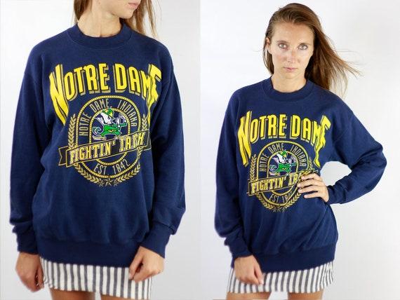 Vintage Sweatshirt Oversize Sweatshirt Blue Sweatshirt Vintage Jumper Oversize Jumper 90s Sweatshirt Jumper Blue Notre Dame SW198