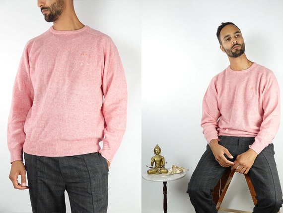 Vintage Jumper Vintage Sweater Wool Jumper Wool Sweater Winter Jumper Knitted Jumper Knitted Sweater Pink Wool Jumper Vintage Clothing WP62
