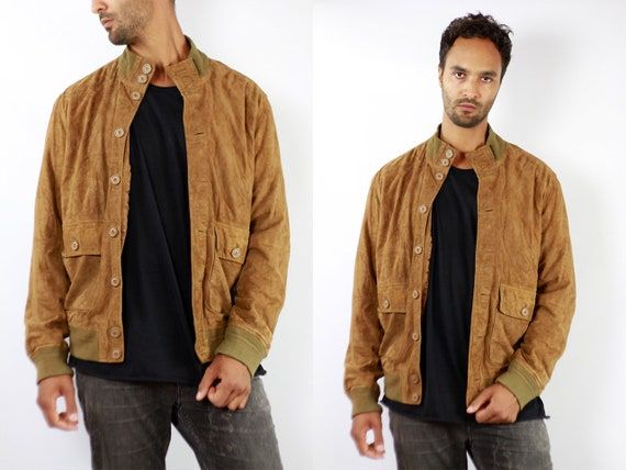 Vintage Suede Jacket Vintage Suede Bomber Suede Bomber Jacket Brown Suede Jacket Brown Bomber Jacket Soft Suede Jacket Large Suede WLJ78
