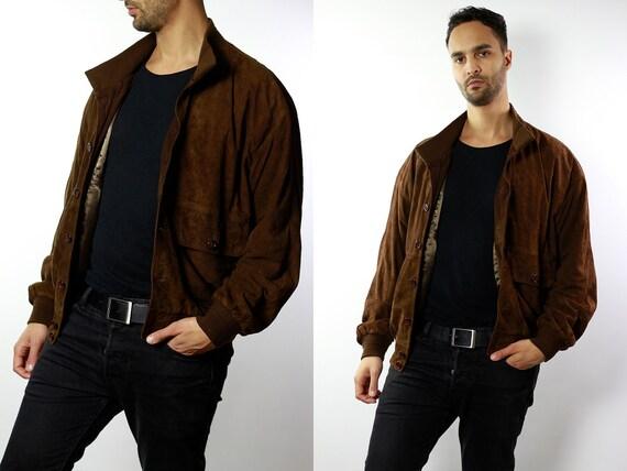 Mens Vintage Suede Jacket, Suede Jacket Men, Mens Suede Jacket, Suede Jacket, Mens Bomber Jacket, Mens Jacket SUJ70