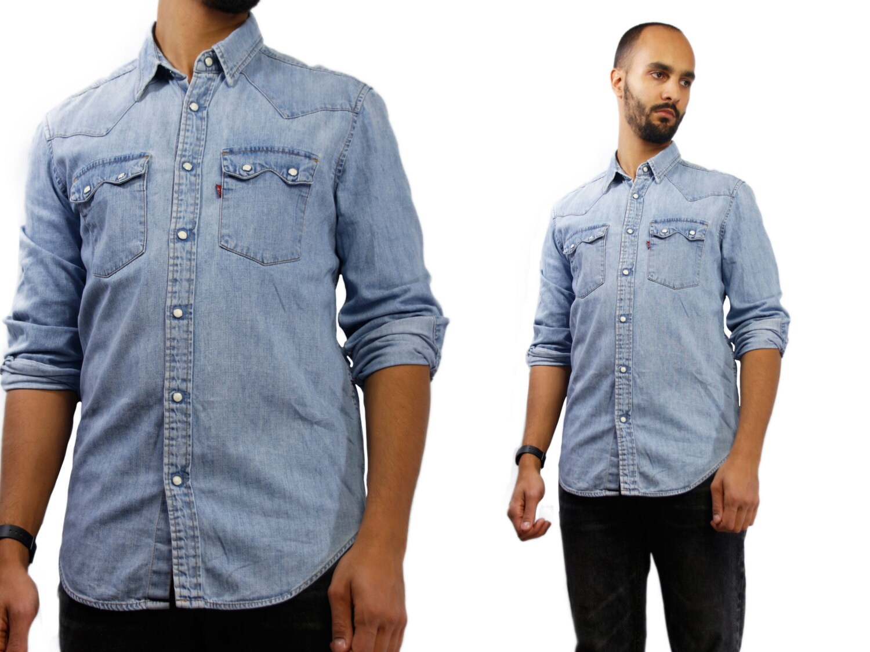 Levis Shirt Levis Denim Shirt Oversized Jean Shirt Vintage