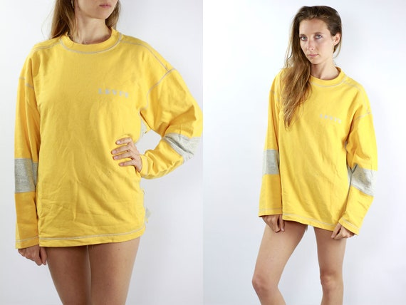 LEVIS Sweatshirt Levis Sweater Levis Jumper Yellow Vintage Sweater Vintage Yellow Sweat Shirt Levis Sweatshirt Yellow Jumper Yellow Sweater