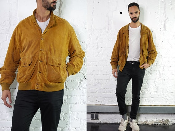 Vintage Suede Jacket Vintage Suede Bomber Suede Bomber Jacket Brown Suede Jacket Brown Bomber Jacket Soft Suede Jacket Large Suede WLJ6