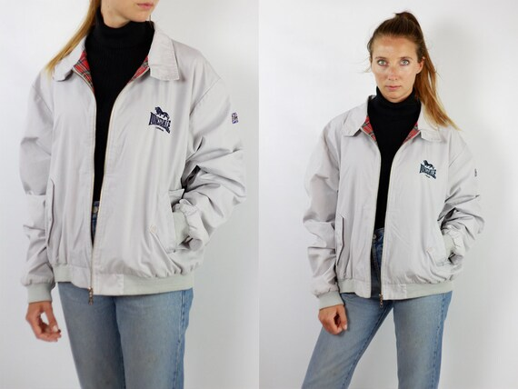 Lonsdale Jacket Bomber Jacket Lonsdale Vintage White Lonsdale Jacket Vintage Jacket Lonsdale White Jacket Bomber White Jacket Lonsdale J135