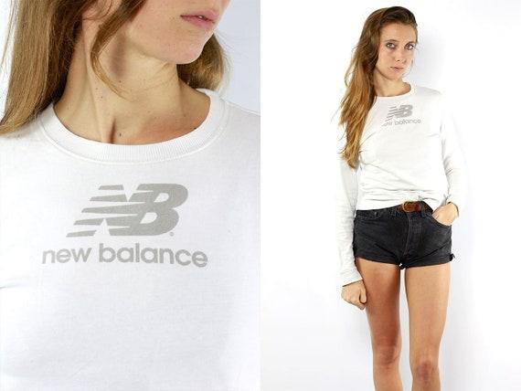 New Balance Jumper 90s Jumper Vintage Jumper New Balance Hoodie Sweater Vintage Sweatshirt New Balance Sweatshirt Sweatshirt Jumper White