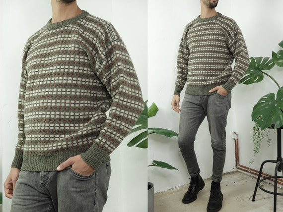 Wool Jumper Fair Isle Jumper Norwegian Sweater Norwegian Knitted jumper Scandinavian Sweater Nordic Jumper Vintage Clothing WP273