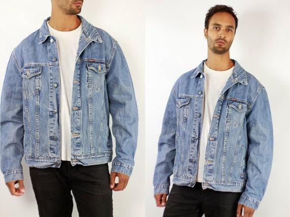 CARRERA Denim Jacket Mens Jean Jacket Carrera Denim Jacket Blue Jean Jacket Men Grunge Jacket Vintage Denim Jacket Denim Jacket Denim JJ249