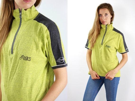 Vintage Asics T-Shirt Yellow 90s Shirt 90s T-Shirt Yellow Asics 90s T-Shirt Asics Vintage Top Asics Shirt Jumper Asics T-Shirt Retro T-Shirt