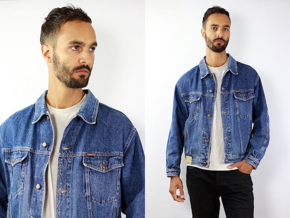 Denim Jacket Vintage Denim Jacket Oversize Jean Jacket 90s Denim Jacket 90s Jean Jacket Blue Jean Jacket Large Denim Jacket Grunge JJ221