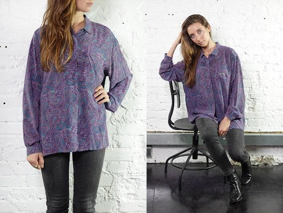Paisley Shirt Floral Blouse Boho Blouse Floral Shirt boho shirt Vintage 80s Blouse Women Shirt Vintage Shirts Womens Blouse Boho SB11