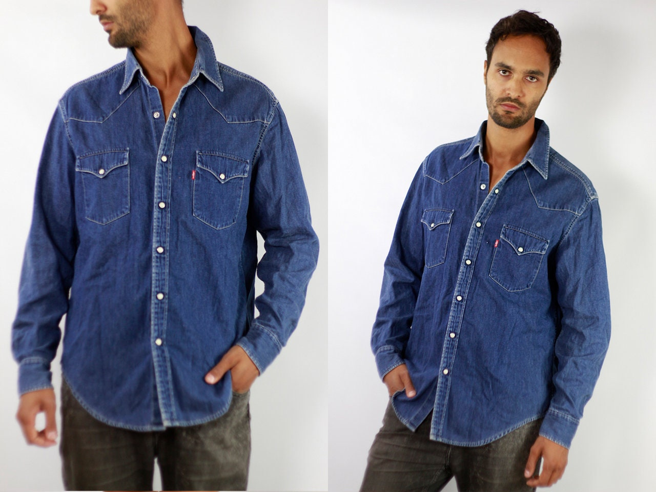 087446af7c1f Levis Dark Blue Denim Shirt – DACC