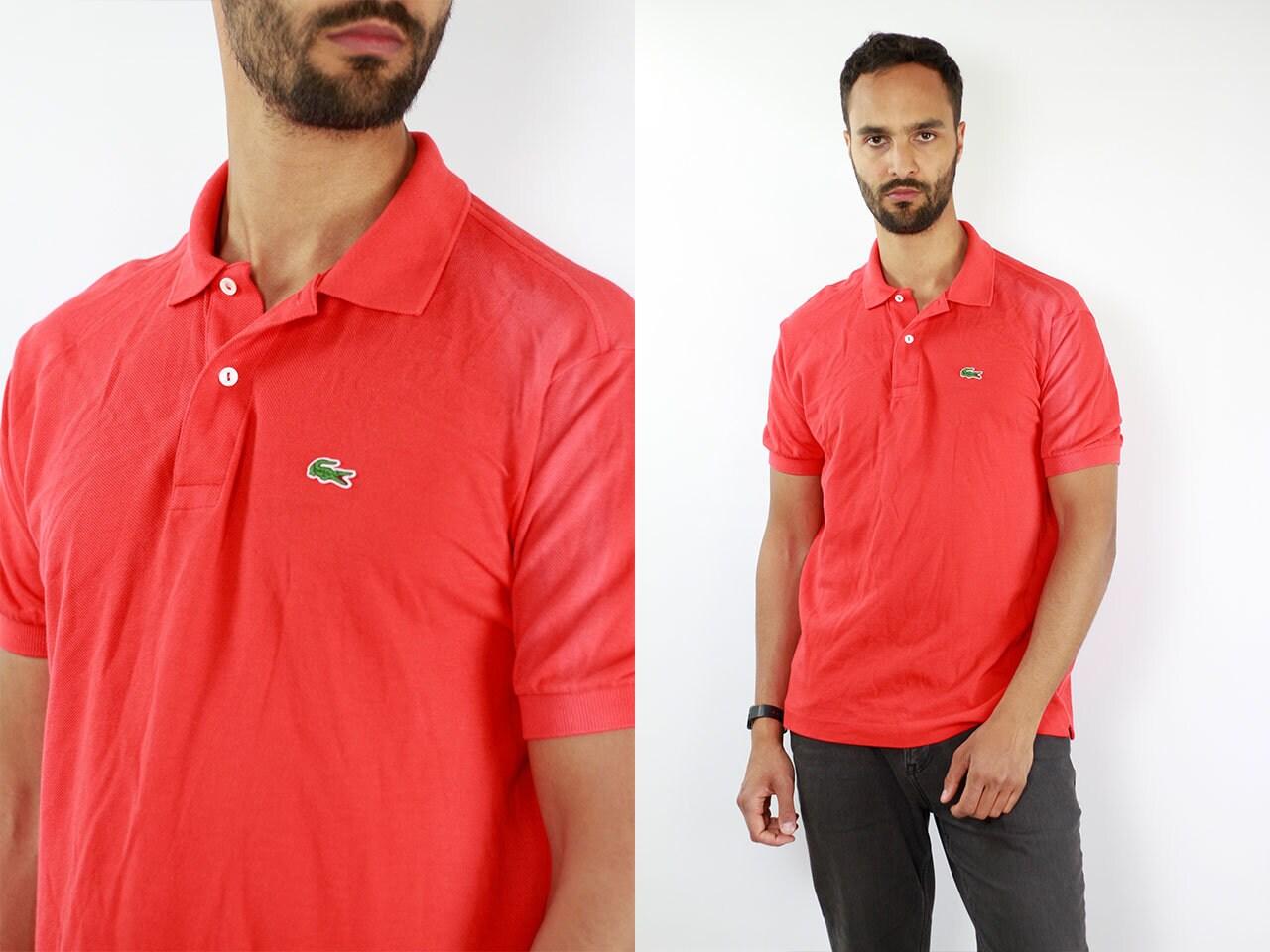 Lacoste Poloshirt 90s Lacoste Polo Shirt Lacoste Red Poloshirt
