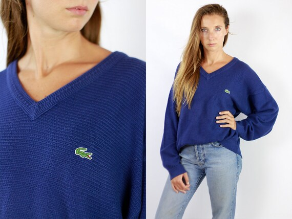 LACOSTE Jumper  Sweater Lacoste Blue Lacoste Sweatshirt 90s Sweater Lacoste  Lacoste Vintage  Lacoste Men  Vintage Lacoste  Blue WP88