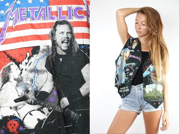 Metallica Gilet Metallica Vest Metallic Masters of Puppets Fan Vest Vintage Band Vest Retro Band Gilet 80s Metallica Top Fan Metallica T82