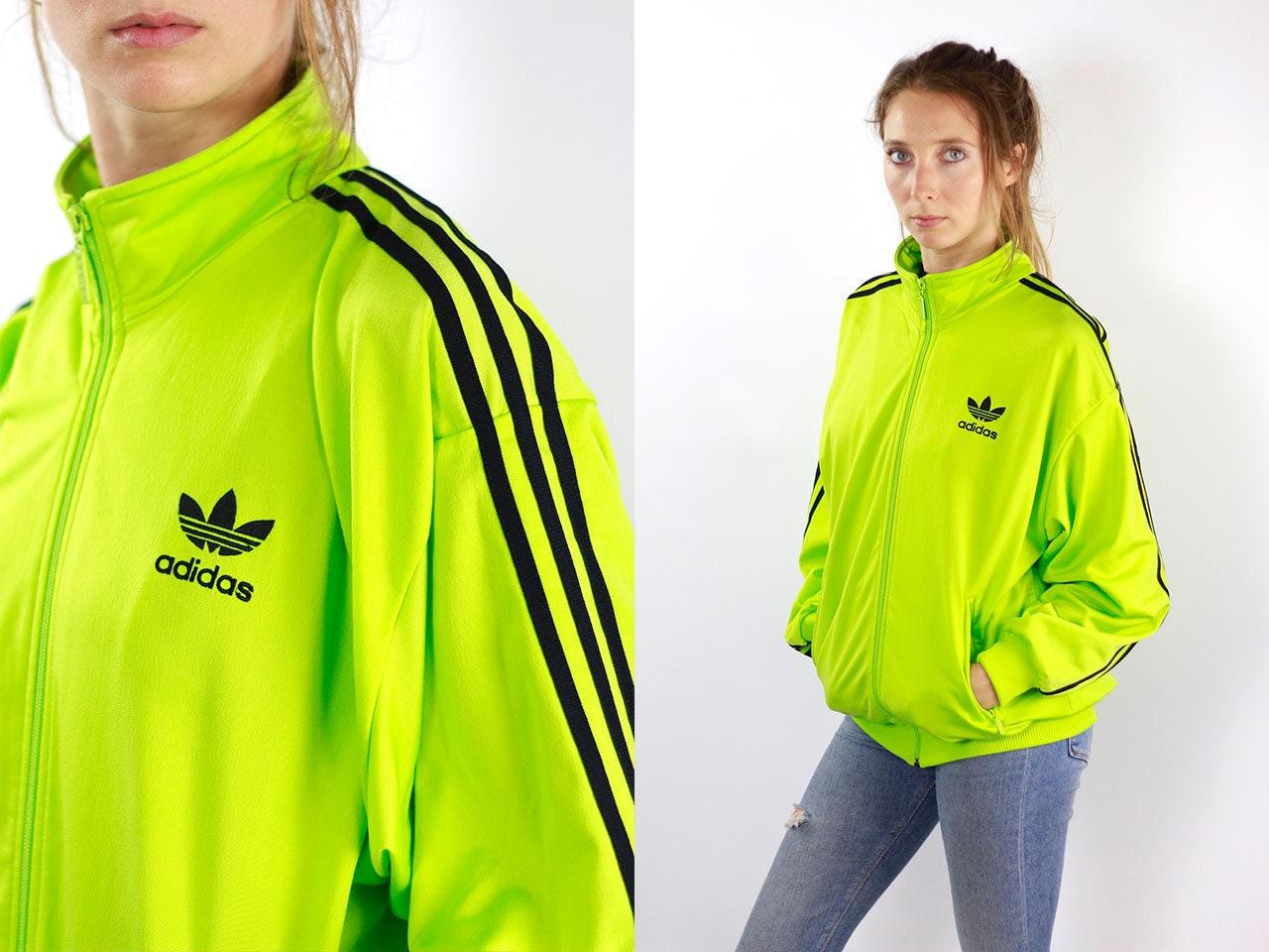 5135523082aa ADIDAS Windbreaker Green Adidas Track Jacket Adidas Jacket Neon ...