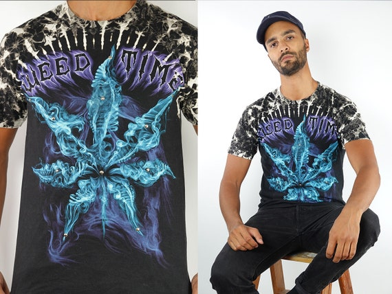 Vintage T-Shirt Weed Shirt Marijuana Top 90s Shirt Band T-Shirt Vintage Marijuana T-Shirt 90s Metal Shirt Weed Vintage Clothing T93