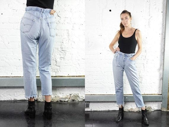 Levis Mom Jeans Levis Light Blue Levis Jeans Reworked  Levis Vintage Jeans  Levis 501 Jeans Mom Jeans High Waist Jeans Paperbag Pants RJ4