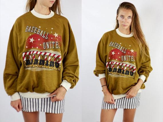 Vintage Sweatshirt Oversize Sweatshirt Beige Sweatshirt Vintage Jumper Oversize Jumper 90s Sweatshirt 90s Jumper Beige Jumper Streetwear