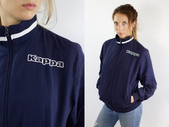 Kappa Windbreaker Vintage Jacket Kappa Jacket Kappa Shell Jacket Kappa Nylon Jacket 90s Windbreaker Blue Windbreaker 90s Vintage Tracksuit